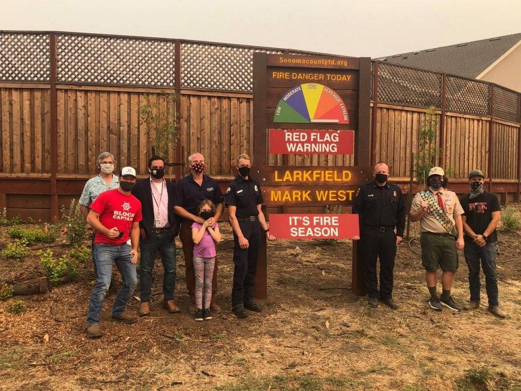Fire Awareness Sign Unveiling