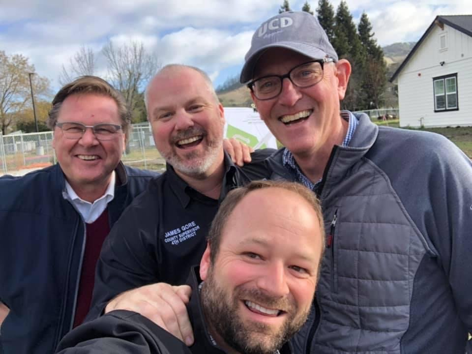MWCAC Member Brad Sherwood joins Supervisor Gore and Sonoma Water Officials at the Larkfield Sewer Project Kick-Off in the Rebuilt Larkfield Estates Neighborhood